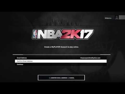 NBA 2K17 Account Registered
