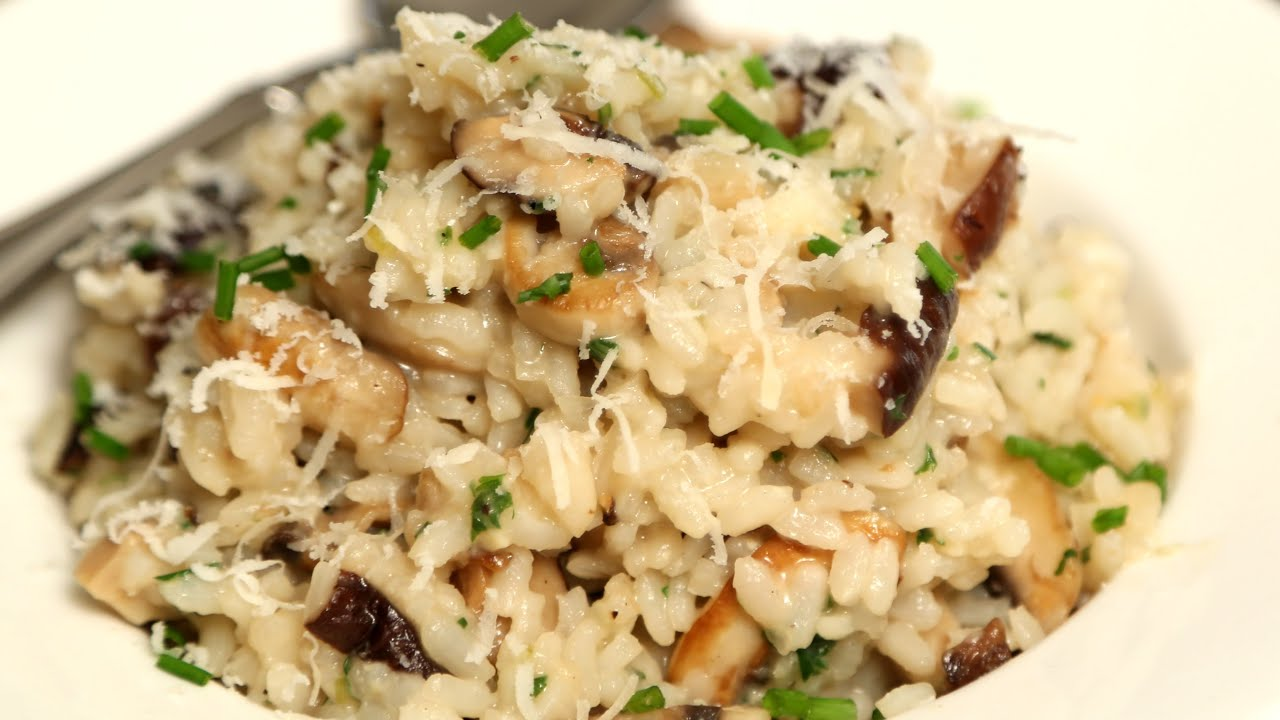 Mushroom Risotto Rice Recipes Italian Cuisine Video Easy Italian Recipes