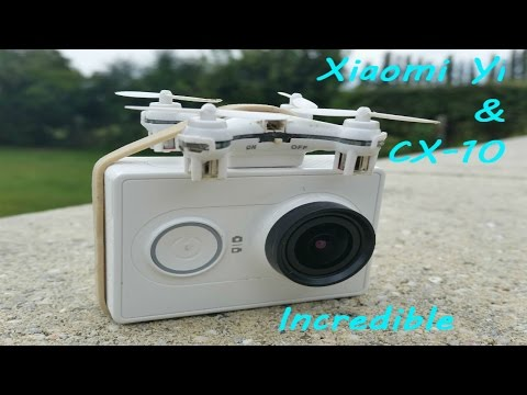 Cx-10 nano drone and gopro camera - Incredible very powerful mini drone - incroyable cx10c cx-10c