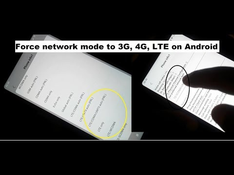 How To Force The Mobile Phone Date Network Mode To 3G, 4G, LTE On Android