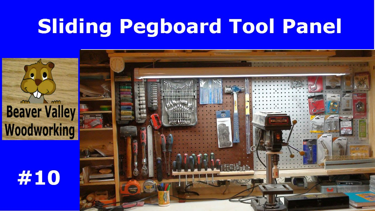 Sliding Pegboard Tool Panel #10   YouTube
