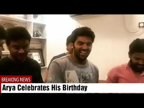Tamil Actor Arya Celebrates His Birthday with His Friends
