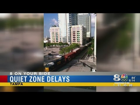 Tampa's train quiet zones won't be finished until next year