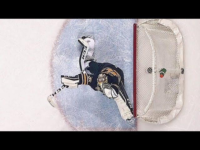 Ullmark flashes the leather to rob Nielsen