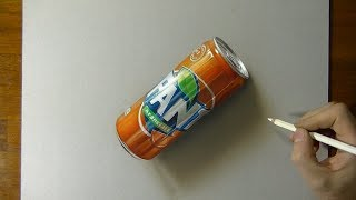 Drawing Fanta - How to draw 3D Art
