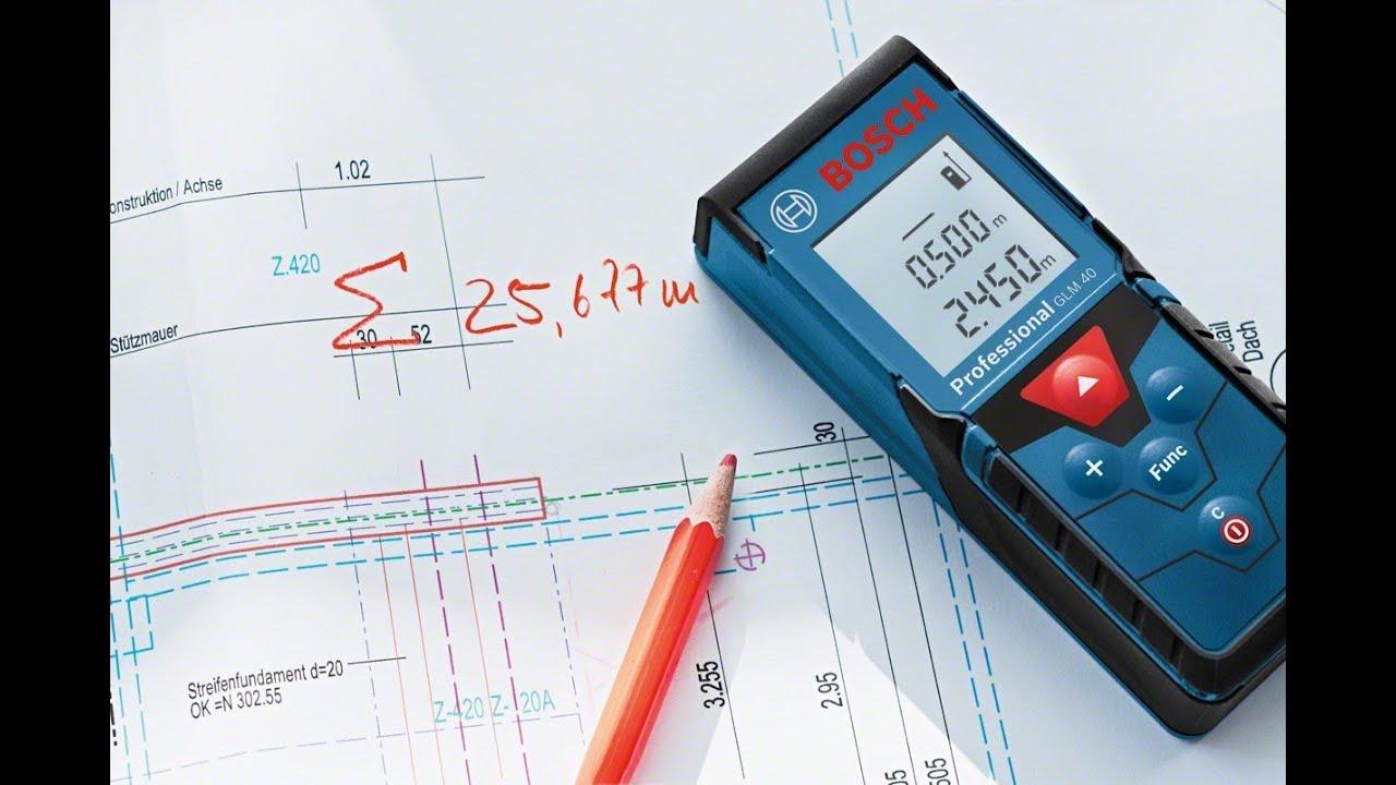 bosch glm 40 laser distance measurer youtube
