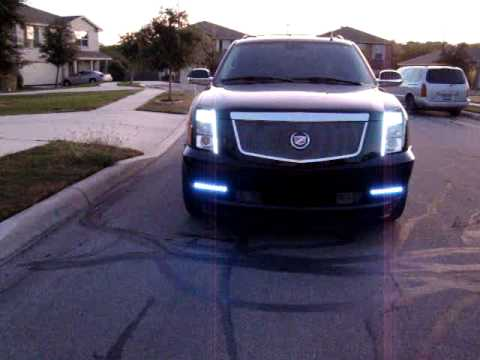 CADILLAC ESCALADE LED LIGHTS - YouTube on escalade led headlights, escalade on 28s, escalade grill, escalade led lights for an inner,