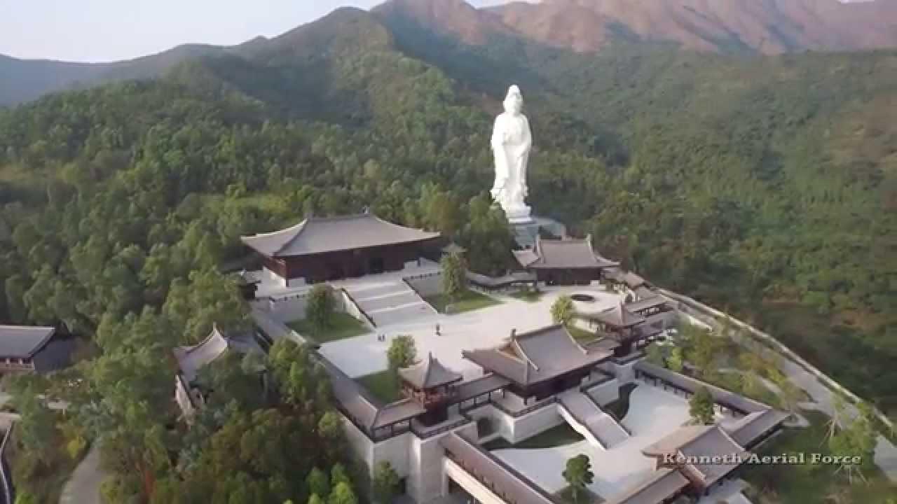DJI Inspire 1  Traditional Chinese Garden U0026 Avalokitesvara (Guan Yin) Statue   1080p   YouTube