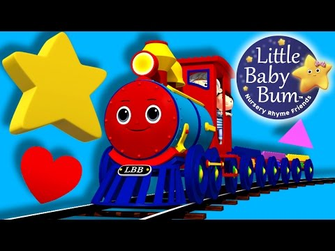Thumbnail: Train Song | Shapes! | Nursery Rhymes | By LittleBabyBum!