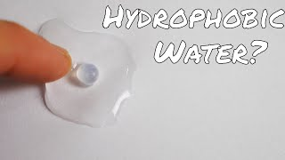 Self-Repelling Hydrophobic Water Drops!