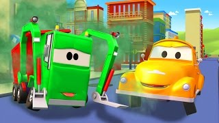 Tom la Grúa y Gary el Camión de Basura en Auto City | Dibujos animados para niños