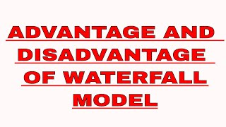 Advantage And Disadvantage Of Waterfall Model Software Engineering