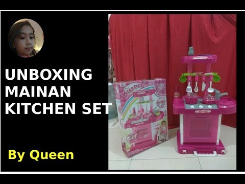 Mainan masak masakan anak unboxing kitchen set toy youtube for Kitchen set anak