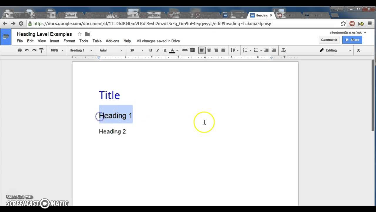 how to make table of contents on google docs