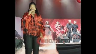 Omotola Jalade Surprised Everyone As She Sings & Danced To Her Song At Her 40th Birthday Party