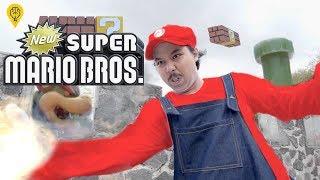 CANGGIH !! Super Mario Bros Vs MONSTER - Nintendo In Real Life