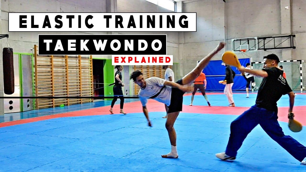 Practice 14 : Elastic Taekwondo training explained ! 🎯 Jaouad Achab