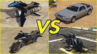 GTA ONLINE - OPPRESSOR MK II vs OPPRESSOR vs DELUXO vs BUZZARD!!!
