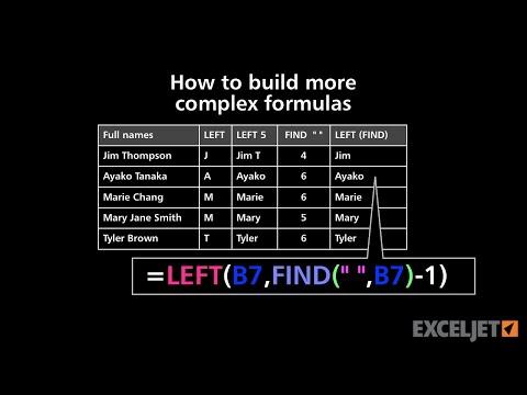 How to build more complex formulas