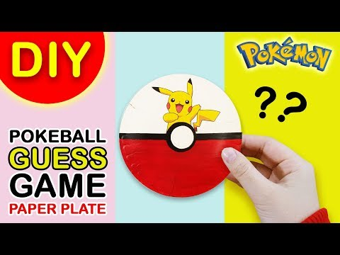 DIY Pokeball Guess Game Using Paper Plates (Pokemon Go)
