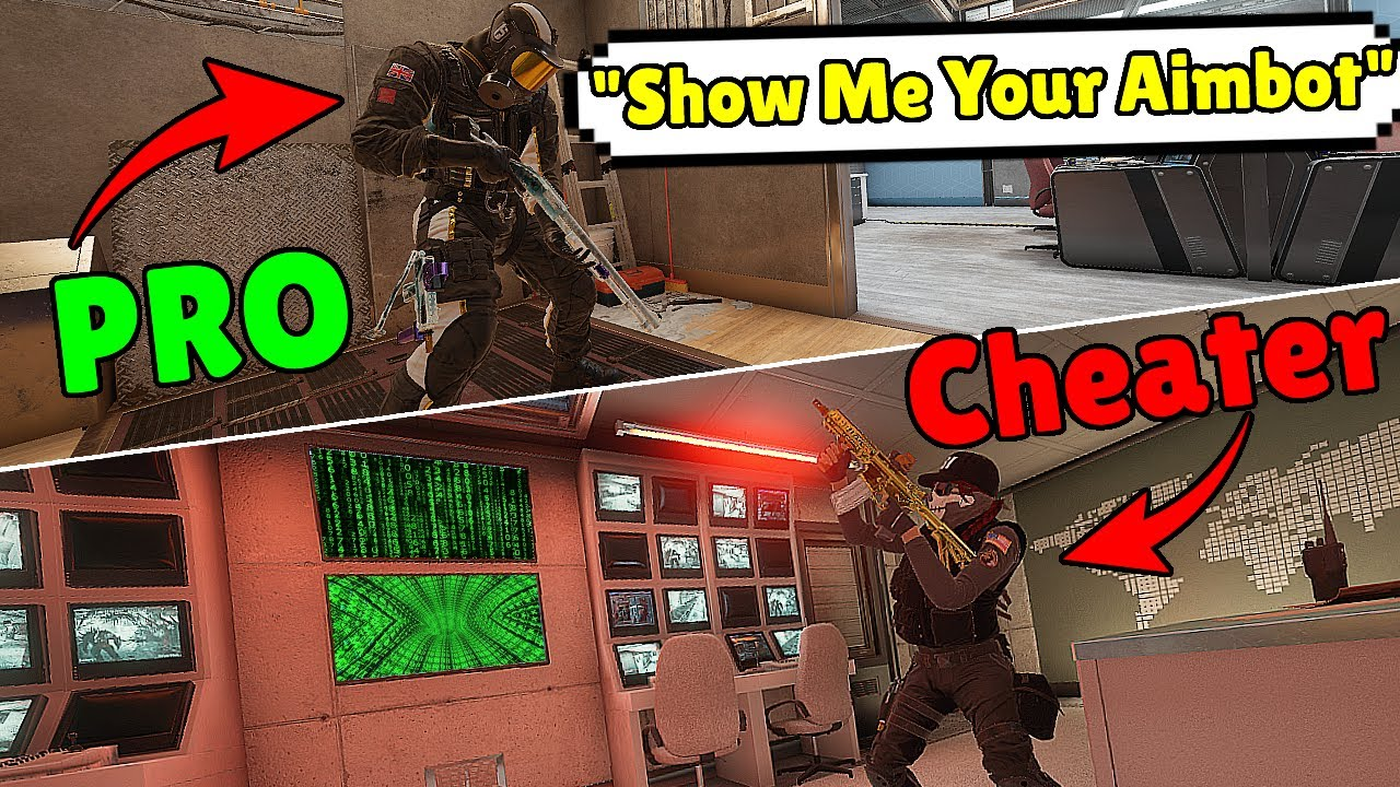 Pro Player Shows Hackers How To Aimbot - Rainbow Six Siege