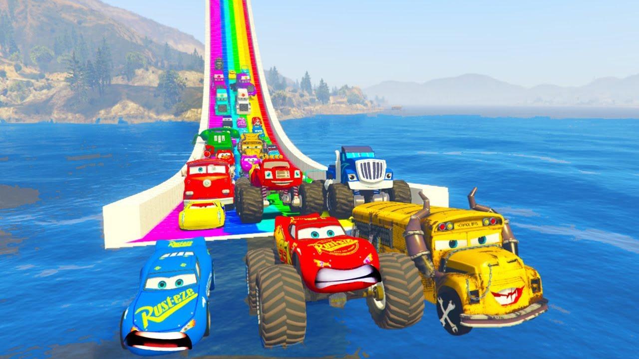 Cars 3 Fabulous Monster Ligtning McQueen Disney All Cars 3 Rainbow Race Track Hot Wheels