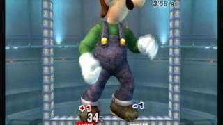 Brawl Hacks - Giant Growing Luigi v.s. Bowser