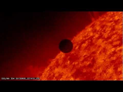 Transit de Vénus devant le Soleil, vu par le Solar dynamic Observatory, 6 juin 2012