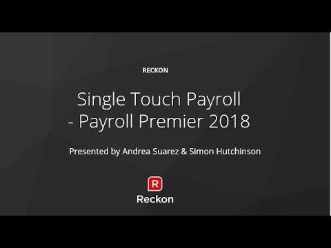 Single Touch Payroll -  Reckon Payroll Premier Webinar Recording