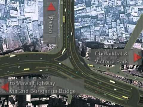 Conceptual 3D Model of Flyover from Shantinagar to Dhaka-Mawa Road (Jhilmil)