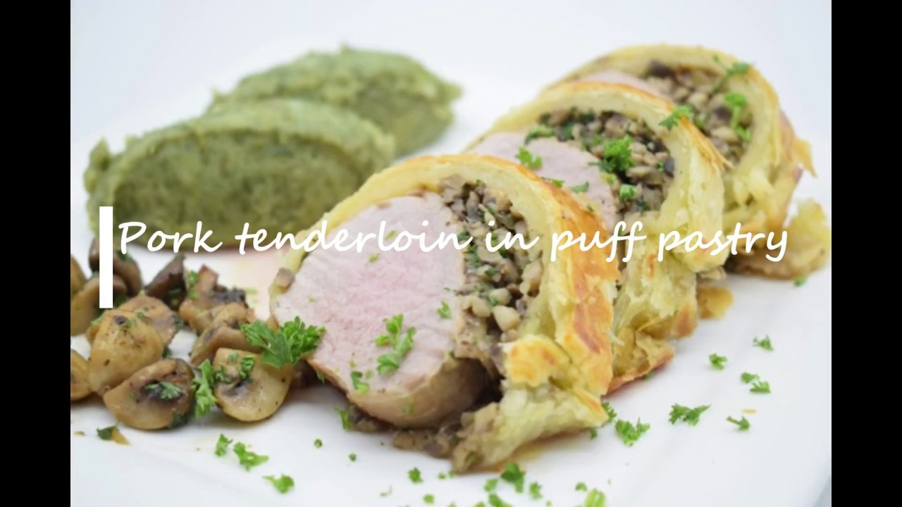 Pork tenderloin in puff pastry