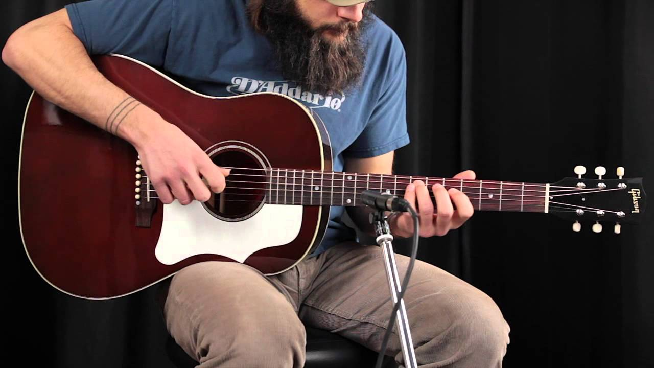 2014 gibson j 45 brown top review youtube. Black Bedroom Furniture Sets. Home Design Ideas