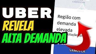Uber Função ALTA DEMANDA no Novo App