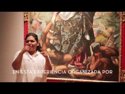 Primera visita guiada en lengua de señas mexicana