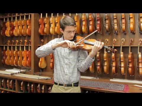 Ernst Heinrich Roth, Markneukirchen 1922 Violin Demonstration