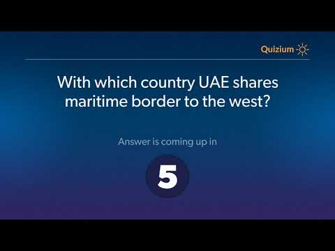 With which country UAE shares maritime border to the west?   United Arab Emirates Quiz