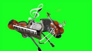 """Dance music instruments"" Effects Motion 5  -  green screen"