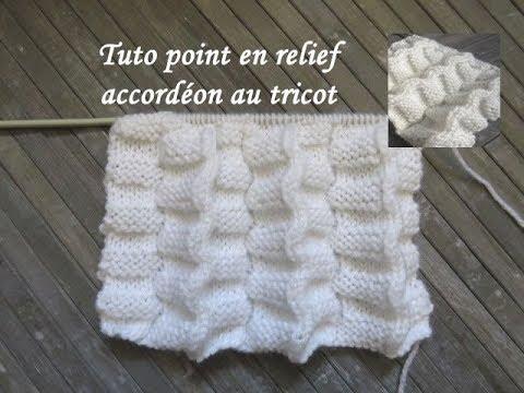 Tuto Point Accordeon En Relief Stich Relief Knitting Punto Relieve Accordeon Dos Agujas