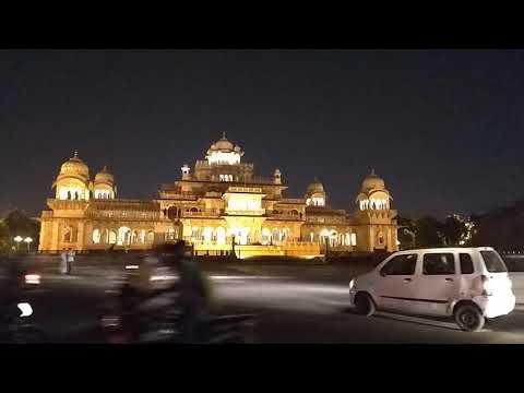 Albert Hall Museum Jaipur Night traffic view