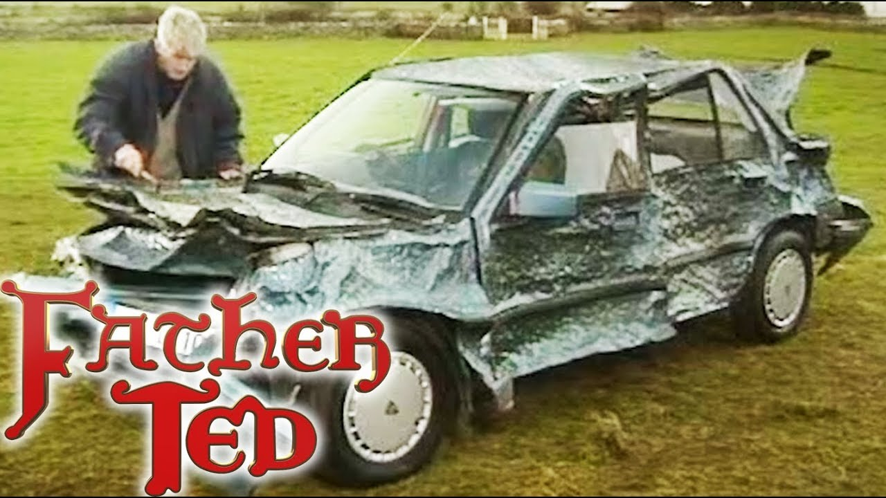 Ted Fixes A Dent In His Car - Father Ted