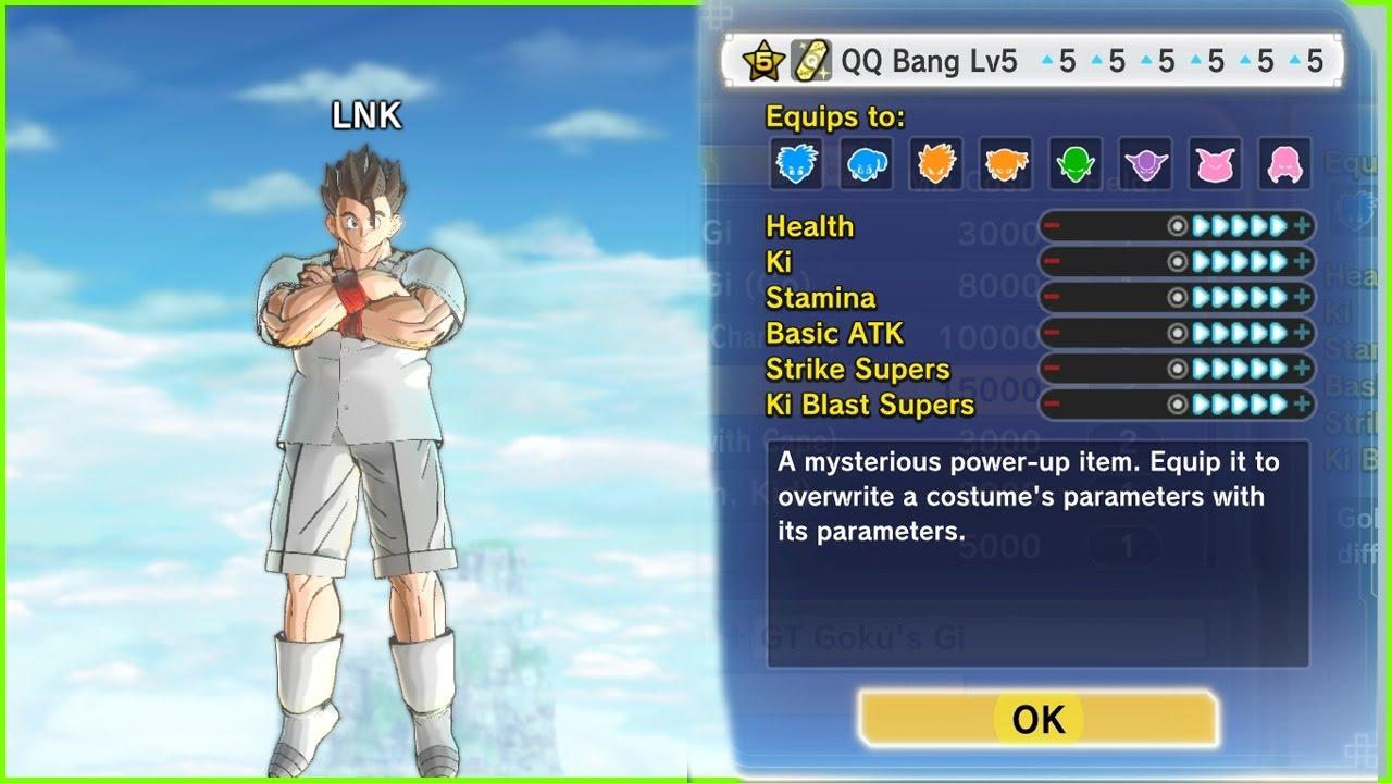 HOW TO HAVE A PERFECT QQ bang | QQ Bang Perfect all +5 | dragon ball  xenoverse 2