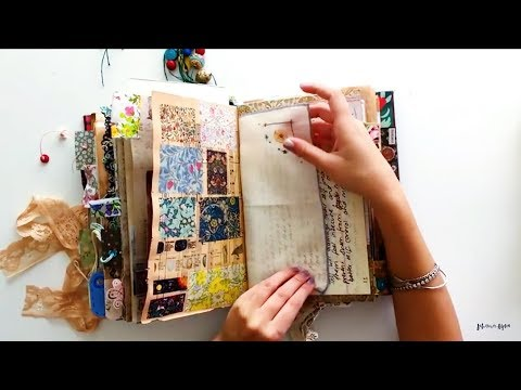 Journal Flip Through | Completed Vintage Junk Journal | My Personal Journal