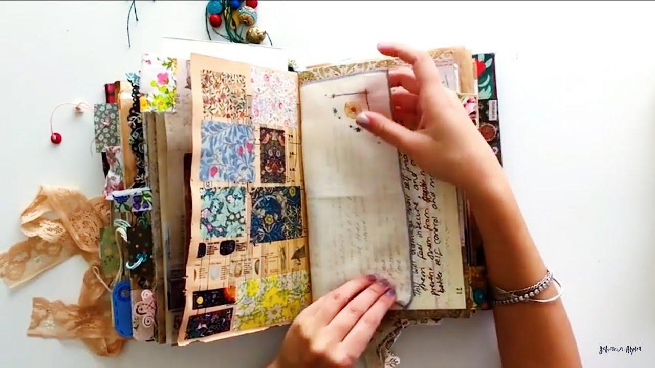Journal Flip Through | Completed Vintage Junk Journal | My Personal Journal  | Vintage junk journal, Junk journal, Personalized journal