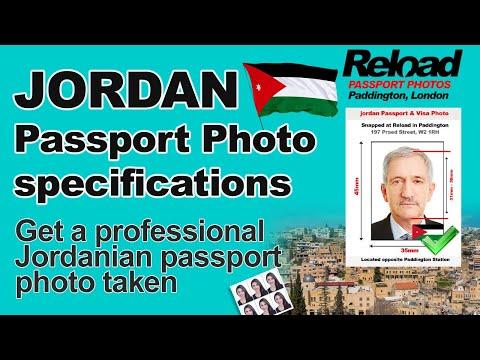 Jordan Passport Photo And Visa Photo Snapped In Paddington, London