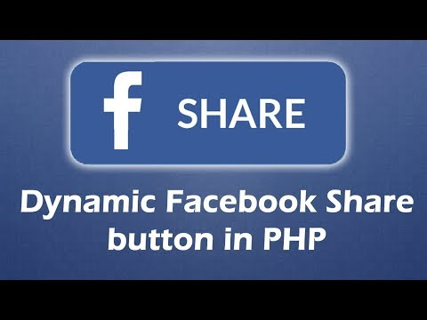 PHP Dynamic Facebook share button
