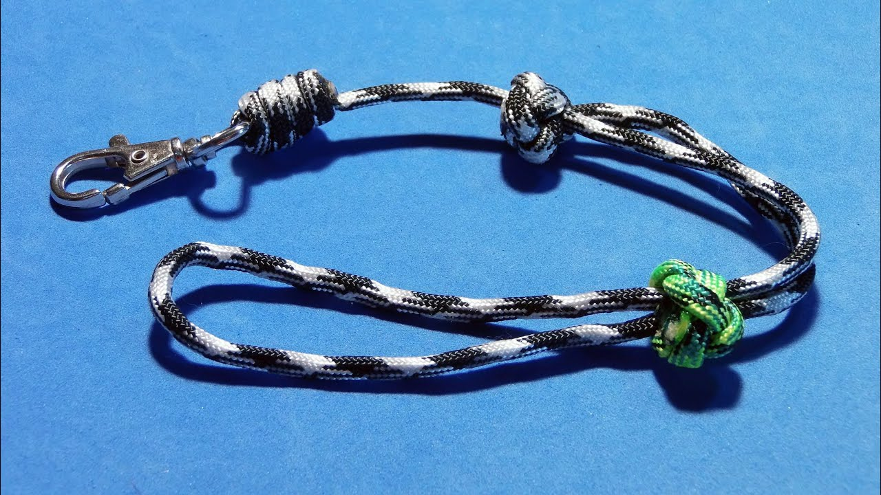 How To Make Tie Adjustable Wrist Paracord Lanyard Tutorial