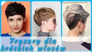 20 pomysłów na 🌷 modne fryzury dla krótkich włosów