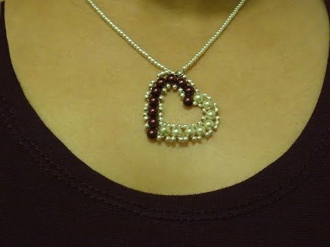 How To Make Small Heart Pendant With Pearls/ DIY Valentine's Day Project