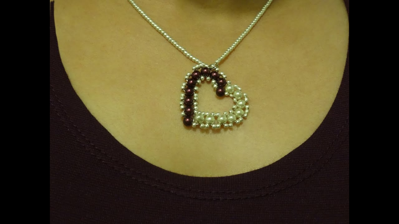 How to make small heart pendant with pearls diy valentines day how to make small heart pendant with pearls diy valentines day project youtube mozeypictures Images