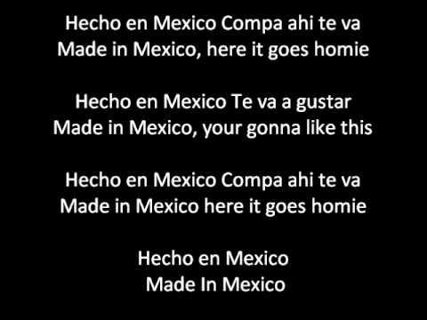 Kinto Sol - Hecho En Mexico (Made In Mexico) ENGLISH AND SPANISH lyrics/letra